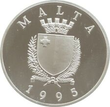More details for 1995 malta united nations 50th anniversary  lm5 silver proof coin