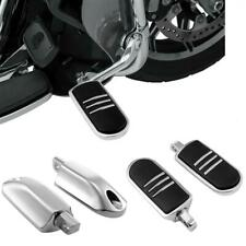 Set Chrome Motorcycle Foot Pegs Rests For Harley-Davidson Dyna Male Peg Mount Us(Fits: Mastiff)