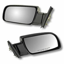 88-98 CHEVY GMC PU PICKUP TRUCK Door Mirrors BLACK Manual LEFT RIGHT Side SET