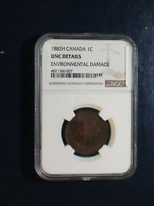 1882 H Canada LARGE Cent NGC UNCIRCULATED 1C Coin BUY IT NOW!
