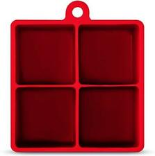 Art and Cook 4 Cube Ice Mold, Red