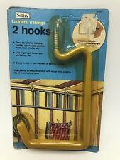 Vintage Selfix Ladder Hooks Storage Hose Chairs Hangers Garage Workshop Yellow