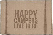 Happy Campers Live Here Camping Theme Tea Towel