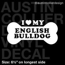 "6.5"" ENGLISH BULLDOG vinyl decal car window laptop sticker - dog breed rescue"