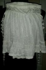 Ana Perez Floral Accent Couture Design Strapless Babydoll Blouse NWT