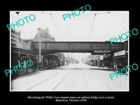 OLD 8x6 HISTORIC PHOTO OF WHITE CROW TOMATO SAUCE BILLBOARD c1930 MELBOURNE