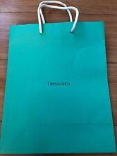 Auth Tiffany Blue Paper Shopping Bag Sz S 8x10x4