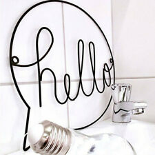 Hello Sign Wall Iron Art Kids Room Decor Hallway Sign Welcome Sign Wall Hanging