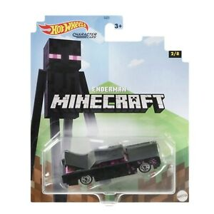 Hot Wheels Minecraft Character Cars 2/8 Enderman 1:64 Scale Diecast