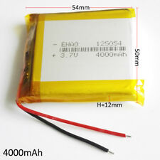 3.7V 4000mAh Lipo Rechargeable Battery For Cell phone tablet power bank 125054