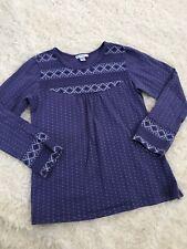Naartjie Kids Thermal Long Sleeve Shirt Top Girls 7 Purple Cotton EUC