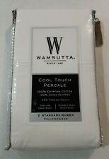 Wamsutta Cool Touch Percale 350 Thread Count Standard Queen Pillowcases White