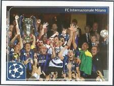 PANINI UEFA CHAMPIONS LEAGUE 2011-12- #553-INTER MILAN PLAYERS CELEBRATE