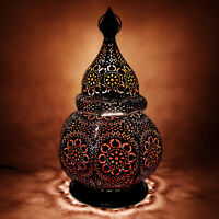 Moroccan Lantern for Candles and Electric Lights Oriental Vintage Garden Lantern