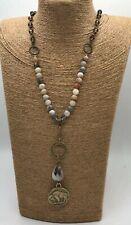 Fashion ethnic zinc alloy chain buffalo nickel pendant clasp crystal necklace