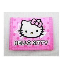 Sanrio Girls Hello Kitty Tri Fold Pink Wallet