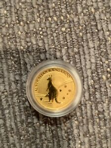 2009 1/20th Ounce Perth Mint Kangaroo .9999 Pure Gold in capsule