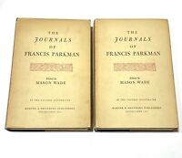 THE JOURNALS OF FRANCIS PARKMAN / First Edition 1947 - 2 Hardcover DJ Very Good