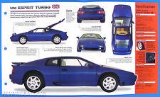 Lotus Esprit Turbo UK 1988-1998 Spec Sheet Brochure Poster IMP Hot Cars 1 #31