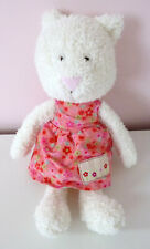 "Jellycat Floral Friends Clara Kitten Cat Pink Dress White Soft Beanie Toy 10"""