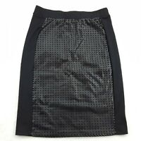 Romeo & Juliet Couture Women's Size Small Cutout Pencil Skirt, Black Stretchy