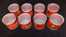 "Christmas BEVERAGE Glasses  Set of 8   Highball  or Eggnog   Unique 3"" MINT"