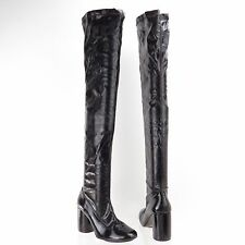 Topshop Women's Shoes Black Over The Knee Tall Boots Size EU 39