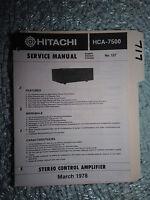 hitachi hca 7500 mkii service manual original repair book stereo amp rh ebay com Hitachi TV Service Manual Hitachi Service Manuals HA6