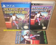 Retro City Rampage DX New Sealed PlayStation 4 PS4 + PSP Case & Manual