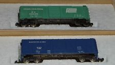 CON-COR N Scale Boxcar Lot of 2  Penn Central and  Baltimore & Ohio ((3714))