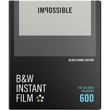 Impossible PRD4517 Black&White Glossy Instant Film for Polaroid 600 -Black Frame