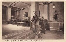 Postcard Portion of Lobby Hotel La Fontaine Huntington In