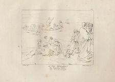 1803 Raffaello incisione in acciaio La pesca miracolosa