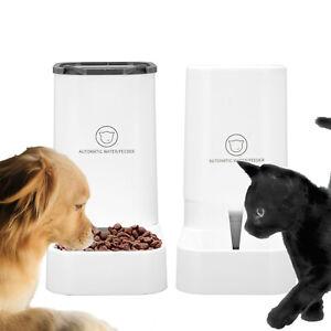 2pcs 3.8L Automatic Pet Dog Cat Food Drink Dispenser Feeder Water Bowl Dish UK