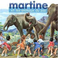 Martine et les Animaux du zoo : Coffret livre avec un jeu de cubes en bois by...