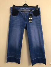 Women's Next Maternity Blue Ankle Wide Leg Jeans, Sizes 8, 10, 12 & 14, BNWT