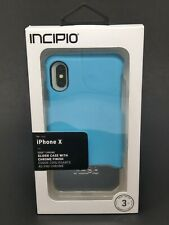 Incipio iPhone X Case Edge Chrome Tough Protection Shockproof Sky Blue Chrome