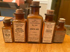 Lot+of+5+brown+antique+medicine+bottles+with+labels+%26+corks+%28Parke%2C+Davis+%26+Co.%29