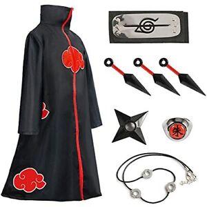 Amycute Costume Akatsuki Itachi Cape Cosplay Cos Deguisement Akatsuki Uchiha Ita