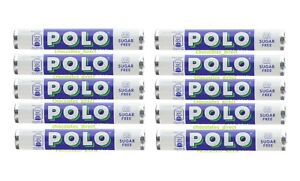 Nestle Polo Sugar Free Mints Retro Boiled Sweets 10 x 25g Rolls Free Delivery