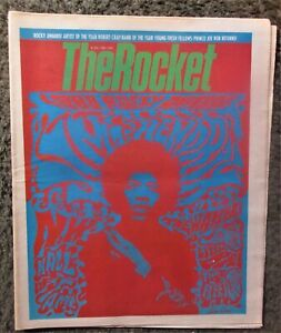 """SEATTLE'S THE ROCKET MAY 1988 HENDRIX W/RARE """"KURDT COBAIN"""" DRUMMER WANTED AD NM"""
