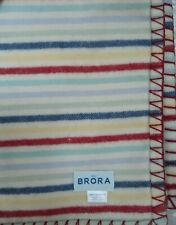 $200 New No Tags Brora 100 % Cashmere  Baby Blanket throw Made In Scotland