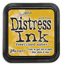 Tim Holtz - Distress Ink Pad - Full Size - FOSSILIZED AMBER - Yellow