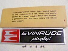 VINTAGE EVINRUDE SIMPLEX REMOTE CONTROL BOX IDENTIFICATION LOGO NAME PLATE #19