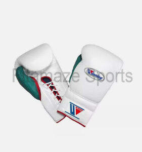 New Custom  Winning Boxing Gloves  Lace Up Pro Type Training Gloves