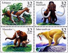 1996 32c Prehistoric Animals, Block of 4 Scott 3077-80 Mint F/VF NH