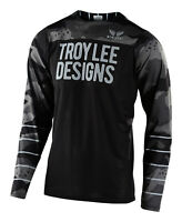 Troy Lee Designs 2020 Skyline Air LS Jersey Pinstripe Camo Gray Blk MTB Bicycle