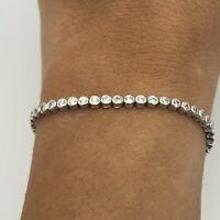 925 Sterling Silver Round Tennis Bracelet - Fully Hallmarked