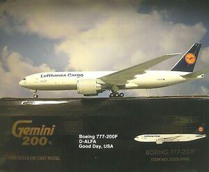 Gemini200 1:200 Boeing 777-200F Lufthansa Cargo D-Alfa G2DLH486