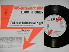 """LEONARD COHEN -Do I Have To Dance All Night- 7"""" 45"""